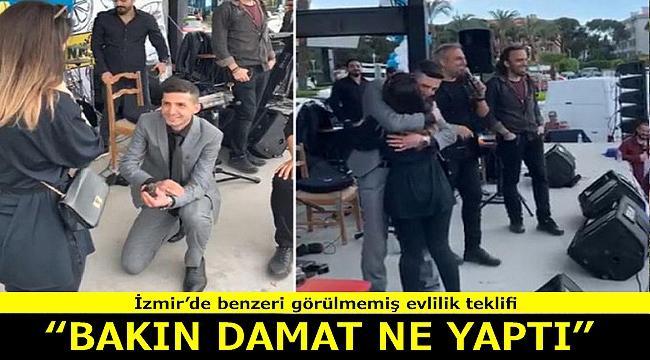 İzmir'de benzeri görülmemiş evlilik teklifi