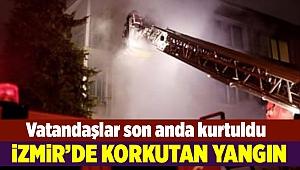 İzmir'de çıkan yangın korkuttu