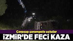 Kamyon ile otomobil şarampole uçtu: 1 ölü bir yaralı