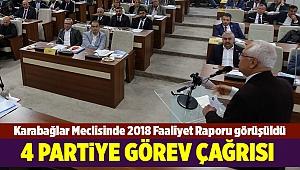 Karabağlar Meclisinde 2018 Faaliyet Raporu görüşüldü