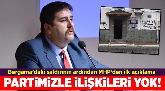 Bergama'daki saldırının ardından MHP'den ilk açıklama
