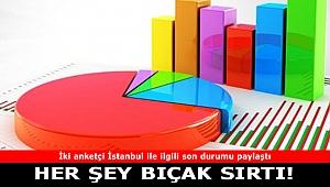 İki anketçi İstanbul ile ilgili son durumu paylaştı: Her şey bıçak sırtı
