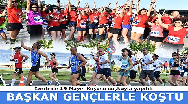İzmir'de 19 Mayıs Koşusu Coşkuyla Yapıldı