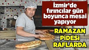 İzmir'de dumanı tüten ramazan pidesi raflarda