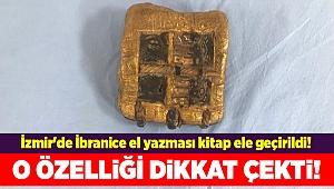 İzmir'de İbranice el yazması kitap ele geçirildi!