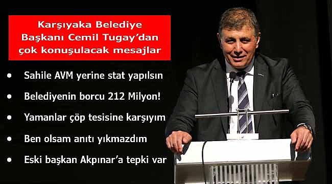 Karşıyaka Belediye Başkanı Cemil Tugay'dan Mesaj Yağmuru