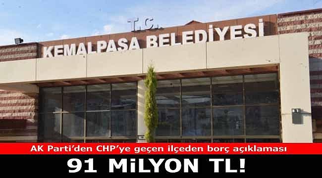 Kemalpaşa Belediye Başkanı Rıdvan Karakayalı borçları kalem kalem ifşa etti