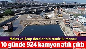 Meles ve Arap derelerinin temizlik raporu: 10 günde 924 kamyon atık çıktı