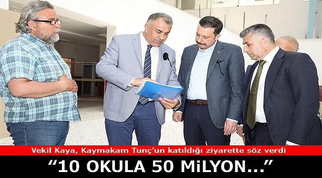 O ilçede 10 okula 50 milyonluk yatırım
