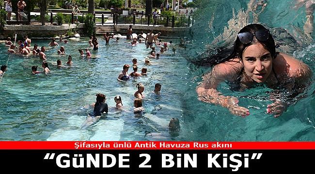Şifalı antik havuza büyük ilgi