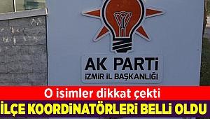 AK Parti'nin ilçe koordinatörleri belli oldu