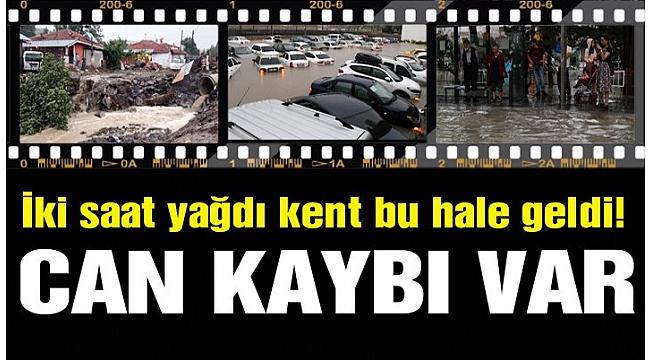 Ankara'da sağanak sele neden oldu! Can kaybı var
