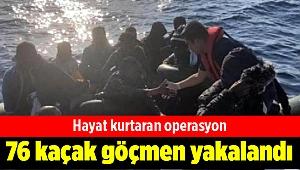 İzmir'de 76 kaçak göçmen yakalandı