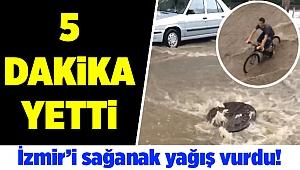İzmir'de akşam saatlerinde yağmur etkili oldu