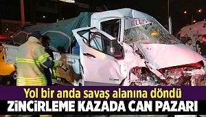 İzmir'de zincirleme kaza: 4 yaralı