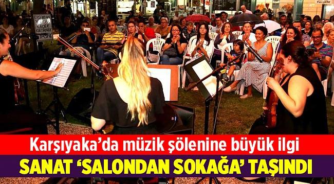 Karşıyaka'da sanat 'salondan sokağa' taşındı