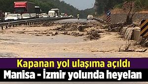 Manisa - İzmir yolunda heyelan