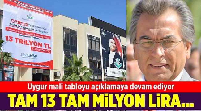 Uygur mali tabloyu açıklamaya devam ediyor: Ağırlama, yemek ve reklama 13 milyon lira...
