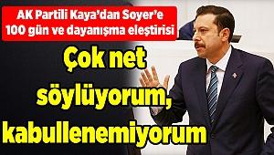 AK Partili Kaya'dan 'Soyer' eleştirisi: Çok net söylüyorum...