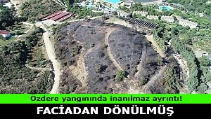 İzmir'deki Özdere yangınında faciadan dönülmüş