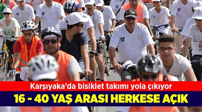 Karşıyaka'da bir ilk: Bisiklet takımı yola çıkıyor