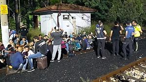 Trende 40 kaçak göçmen yakalandı