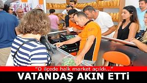 Belediyenin ilk Halk Marketi hizmet vermeye başladı...