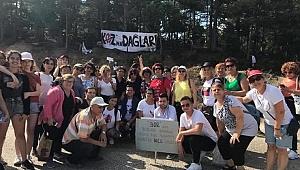 CHP'li kadınlardan Kaz Dağlarına çıkarma