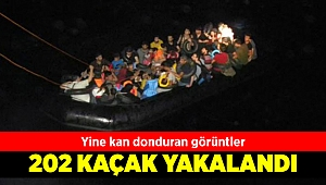 Dikili'de 202 kaçak göçmen yakalandı