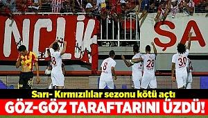 Göztepe evinde Antalyaspor'a mağlup oldu