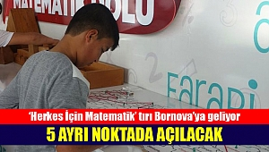 Herkes İçin Matematik' tırı Bornova'ya geliyor