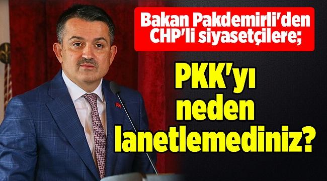 Bakan Pakdemirli'den CHP'li siyasetçilere; PKK'yı neden lanetlemediniz?