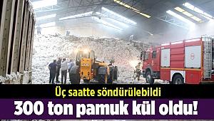 300 ton pamuk kül oldu!