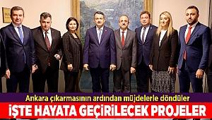 Ankara çıkarmasının ardından müjdelerle döndüler