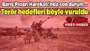 Barış Pınarı Harekatı'nda son durum... Terör hedefleri böyle vuruldu