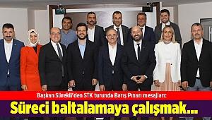 Başkan Sürekli'den STK turunda Barış Pınarı mesajları: Süreci baltalamaya çalışmak…