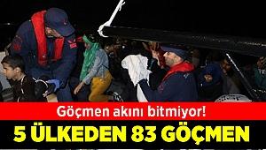 Dikili açıklarında 83 kaçak yakalandı
