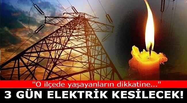 İzmir'de elektrik kesintisi(14-15-16 Ekim 2019)