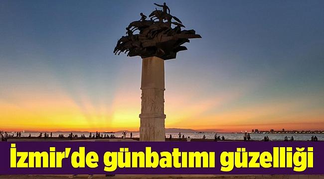 İzmir'de günbatımı güzelliği