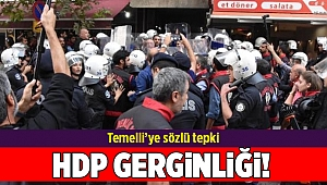 İzmir'de HDP binası önünde gerginlik yaşandı...