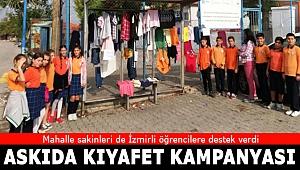 İzmir'de öğrencilerden duygulandıran 'askıda kıyafet' kampanyası