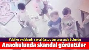İzmir'de özel bir anaokulunda skandal görüntüler