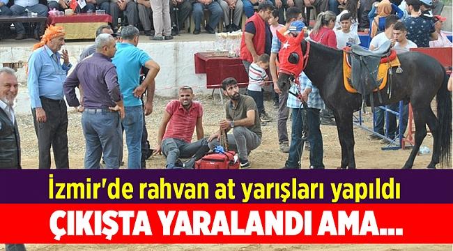 İzmir'de rahvan at yarışları yapıldı