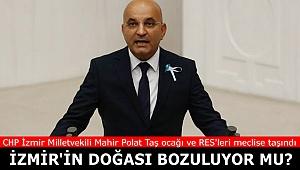 Taş ocağı ve RES'ler İzmir'in doğasını bozuyor iddiası