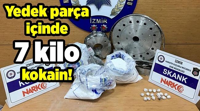 Yedek parça içinde 7 kilo kokain!