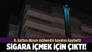 8. kattan düşen mühendis hayatını kaybetti