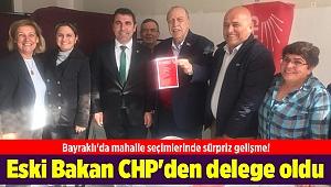 Bayraklı'da mahalle seçimlerinde sürpriz gelişme! Eski Bakan Yaşar Okuyan CHP'den delege oldu