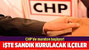 CHP'de maraton başlıyor!