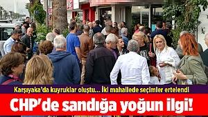 CHP'de sandığa yoğun ilgi! Karşıyaka'da kuyruklar oluştu...