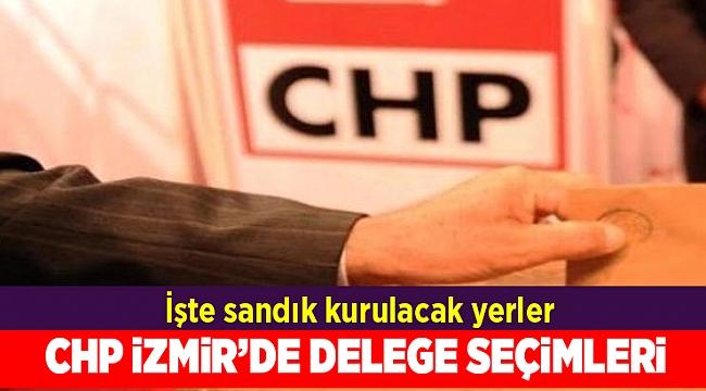 CHP İzmir'de delege seçimleri devam ediyor